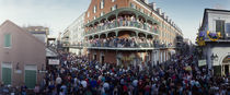 People celebrating Mardi Gras festival, New Orleans, Louisiana, USA von Panoramic Images