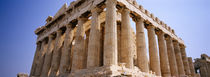 Old ruins of a temple, Parthenon, Acropolis, Athens, Greece by Panoramic Images