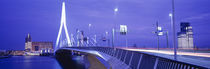 Erasmus Bridge Rotterdam Netherlands von Panoramic Images