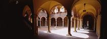 Corridor of a building, Town Center, Bellinzona, Ticino, Switzerland von Panoramic Images