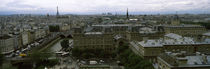 Cityscape viewed from the Notre Dame, Paris, Ile-de-France, France by Panoramic Images