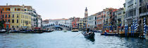 Buildings at the waterfront, Rialto Bridge, Grand Canal, Venice, Veneto, Italy by Panoramic Images
