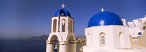 Church with sea in the background, Santorini, Cyclades Islands, Greece by Panoramic Images