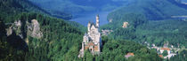 High angle view of a castle, Neuschwanstein Castle, Bavaria, Germany von Panoramic Images