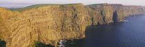 High Angle View Of Cliffs, Cliffs Of Mother, County Clare, Republic Of Ireland by Panoramic Images