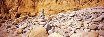 Stack of stones on the beach, California, USA by Panoramic Images