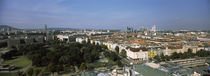 High angle view of a city, UNO City Complex, Vienna, Austria by Panoramic Images