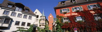 Germany, Meersburg, Lake Constance, Low angle view of the buildings by Panoramic Images