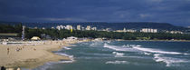 High angle view of tourists on the beach, Black Sea, Varna, Bulgaria by Panoramic Images