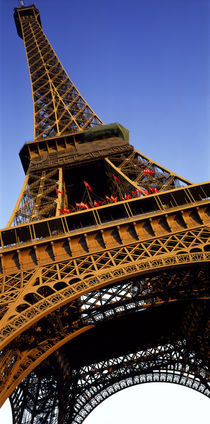 Low angle view of a tower, Eiffel Tower, Paris, Ile-de-France, France by Panoramic Images