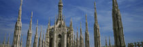 Facade of a cathedral, Piazza Del Duomo, Milan, Italy by Panoramic Images