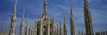 Panorama Print - Fassade einer Kathedrale, Piazza del Duomo, Mailand, Italien von Panoramic Images
