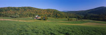 Farmhouse in a field, Vermont, USA by Panoramic Images