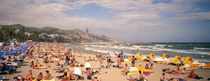 Tourists on the beach, Sitges, Spain von Panoramic Images