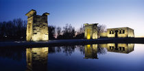 Reflection of a temple in water, Egyptian Temple Of Debod, Madrid, Spain by Panoramic Images