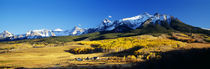 Panorama Print - USA, Colorado, Ridgeway, Last Dollar Ranch, Herbst von Panoramic Images