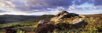 Clouds over a landscape, Haytor Rocks, Dartmoor, Devon, England by Panoramic Images