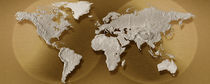 Close-up of a world map by Panoramic Images