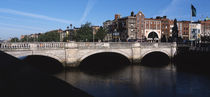 Bridge over a river, O'Connell Bridge, Liffey River, Dublin, Republic of Ireland von Panoramic Images