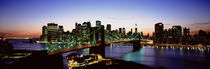 High Angle View Of Brooklyn Bridge, NYC, New York City, New York State, USA by Panoramic Images