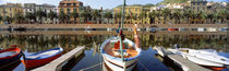 Italy, Sardinia, Bosa, Boats moored on the dock by Panoramic Images