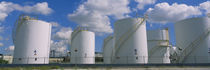 Storage tanks in a factory, Miami, Florida, USA von Panoramic Images