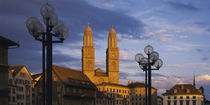 Low angle view of a church, Grossmunster, Zurich, Switzerland von Panoramic Images