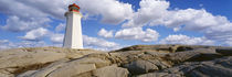 Low Angle View Of A Lighthouse, Peggy's Cove, Nova Scotia, Canada by Panoramic Images