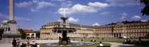 Fountain in front of a palace, Schlossplatz, Stuttgart, Germany von Panoramic Images