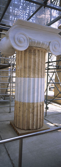 Column in the Acropolis, Athens, Greece von Panoramic Images