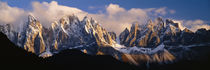 Snowcapped mountain peaks, Dolomites, Italy by Panoramic Images