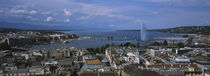 Buildings in a city, Lake Geneva, Lausanne, Switzerland by Panoramic Images