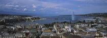 Buildings in a city, Lake Geneva, Lausanne, Switzerland von Panoramic Images