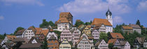 Buildings on a hill, Altensteig, Black Forest, Germany by Panoramic Images