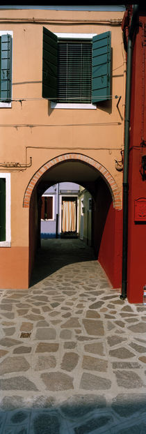 Archway of a house, Burano, Venice, Veneto, Italy by Panoramic Images
