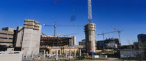 Buildings under construction at a construction site, Edmonton, Alberta by Panoramic Images