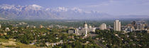High angle view of a city, Salt Lake City, Utah, USA by Panoramic Images