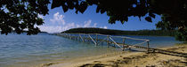 Wooden dock over the sea, Vava'u, Tonga, South Pacific von Panoramic Images