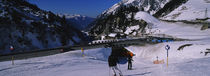 Tourists skiing on snow, Stuben, Austria by Panoramic Images