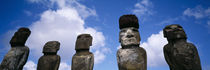 Stone Heads, Easter Islands, Chile von Panoramic Images