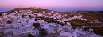 High angle view of buildings on a landscape, Amorgos, Cyclades Islands, Greece by Panoramic Images