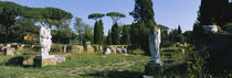 Ruins of statues in a garden, Ostia Antica, Rome, Italy von Panoramic Images