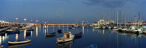 Boats at a harbor, Bari, Itria Valley, Puglia, Italy by Panoramic Images