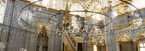 Interiors of a mosque, Rustem Pasa Mosque, Istanbul, Turkey by Panoramic Images
