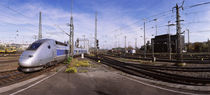 High speed train at a railroad station, Stuttgart, Baden-Wurttemberg, Germany by Panoramic Images