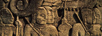 Sculptures in a temple, Bayon Temple, Angkor, Cambodia by Panoramic Images