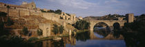 Castle at the waterfront, Puente de San Martin, Tajo River, Toledo, Spain von Panoramic Images