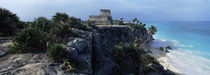 Castle on a cliff, El Castillo, Tulum, Yucatan, Mexico by Panoramic Images