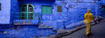 Rear view of a woman walking on the street, Jodhpur, Rajasthan, India von Panoramic Images