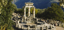 High angle view of a monument, Tholos De Marmaria, Delphi, Greece von Panoramic Images
